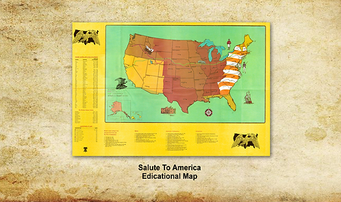 Salute to America Educational Map SOLD SEPARATELY