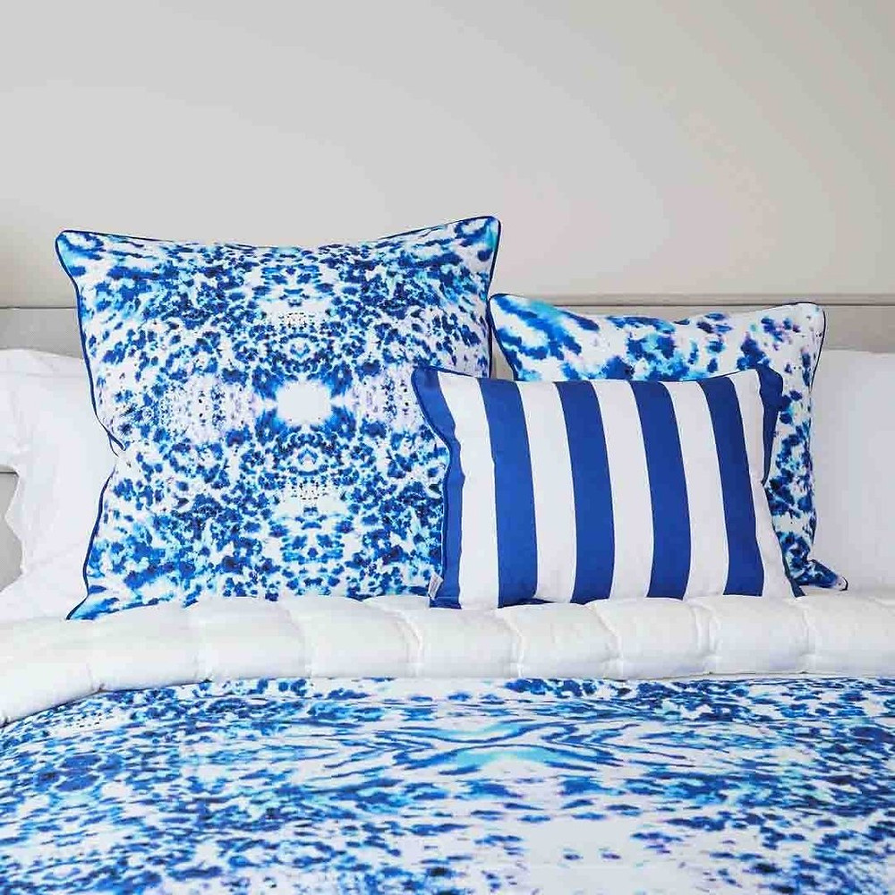 cushion fabric in blue colours by Penelope Hope