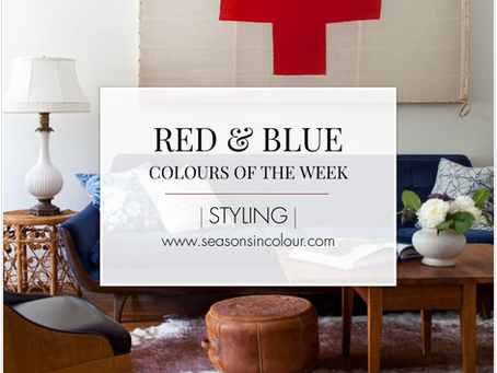 Red & Blue will always work in interiors