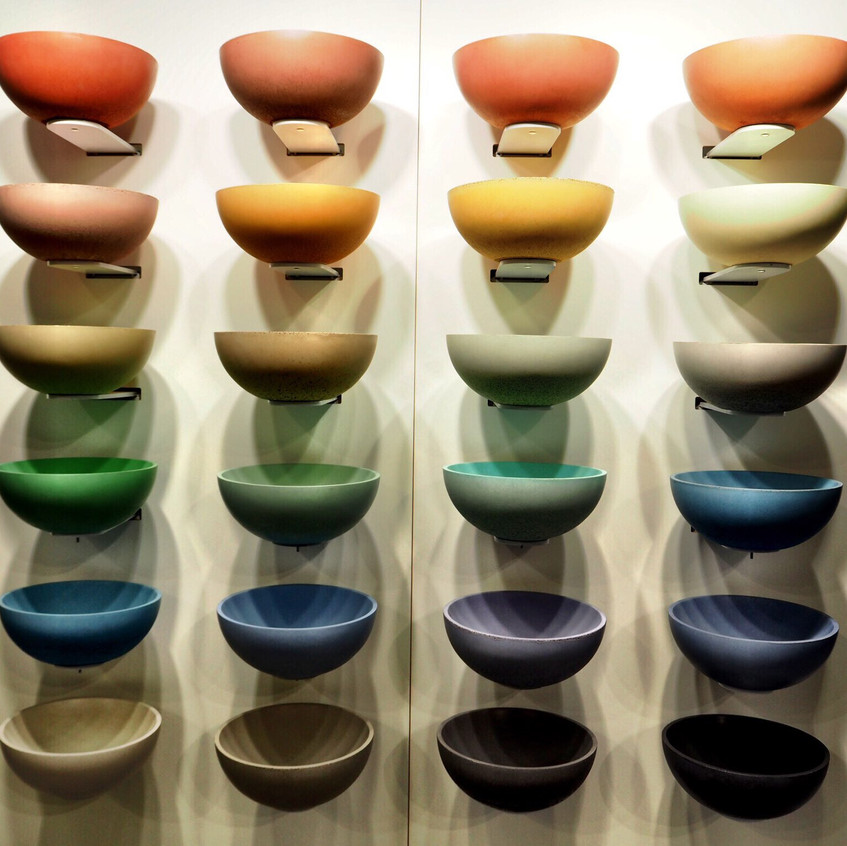 Cielo Shui coloured basins available at CP Hart