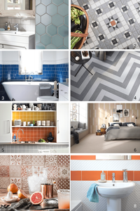 collection of tile styles for your wall and floor - bathroom hex tiles victorian floor tiles, metro tiles