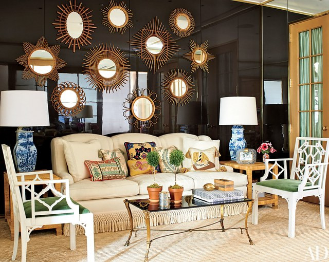 sofa with bullion fringe tory burch office