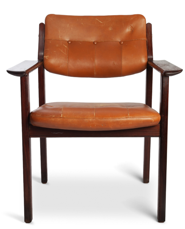 Vintage Rosewood & Leather Chair
