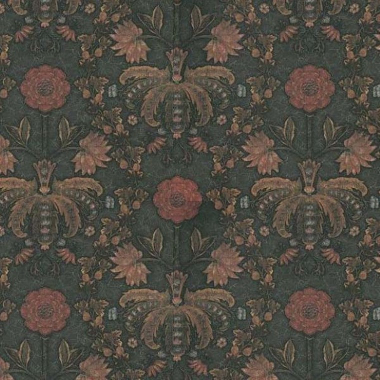 New Bond Street Hide - Little Greene. 15 best floral wallpapers for a moody look - how to decorate your interiors with moody floral wallpaper