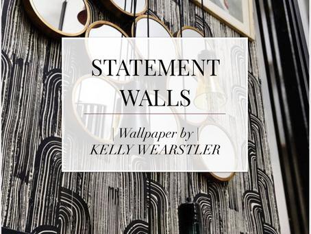 Statement walls by Kelly Wearstler
