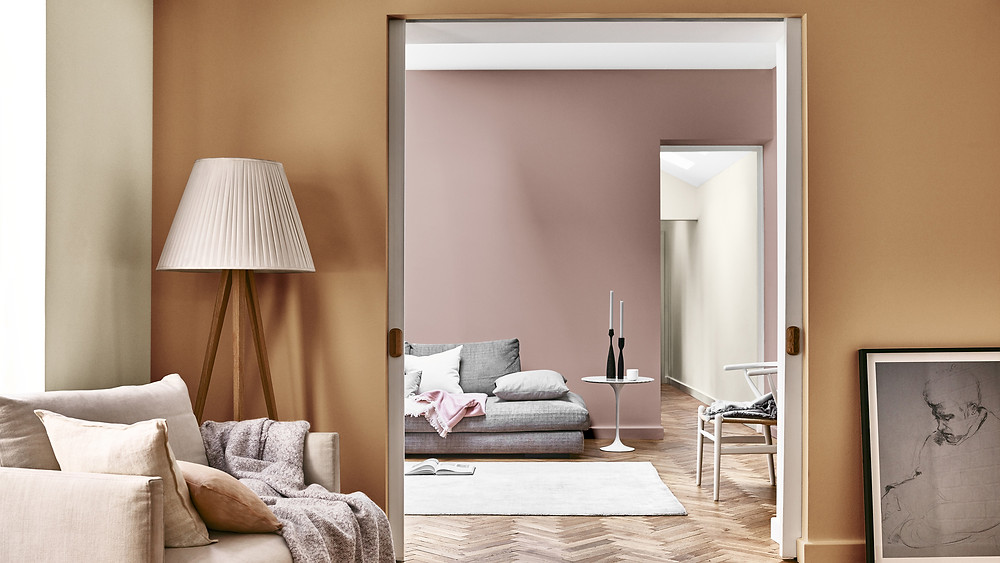Spiced Honey is the Dulux Colour of the Year 2019 living room decor ideas
