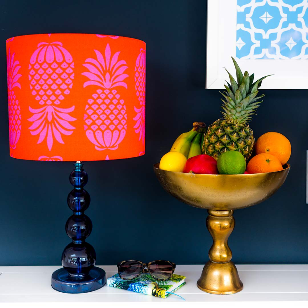 pineapples in a lampshade