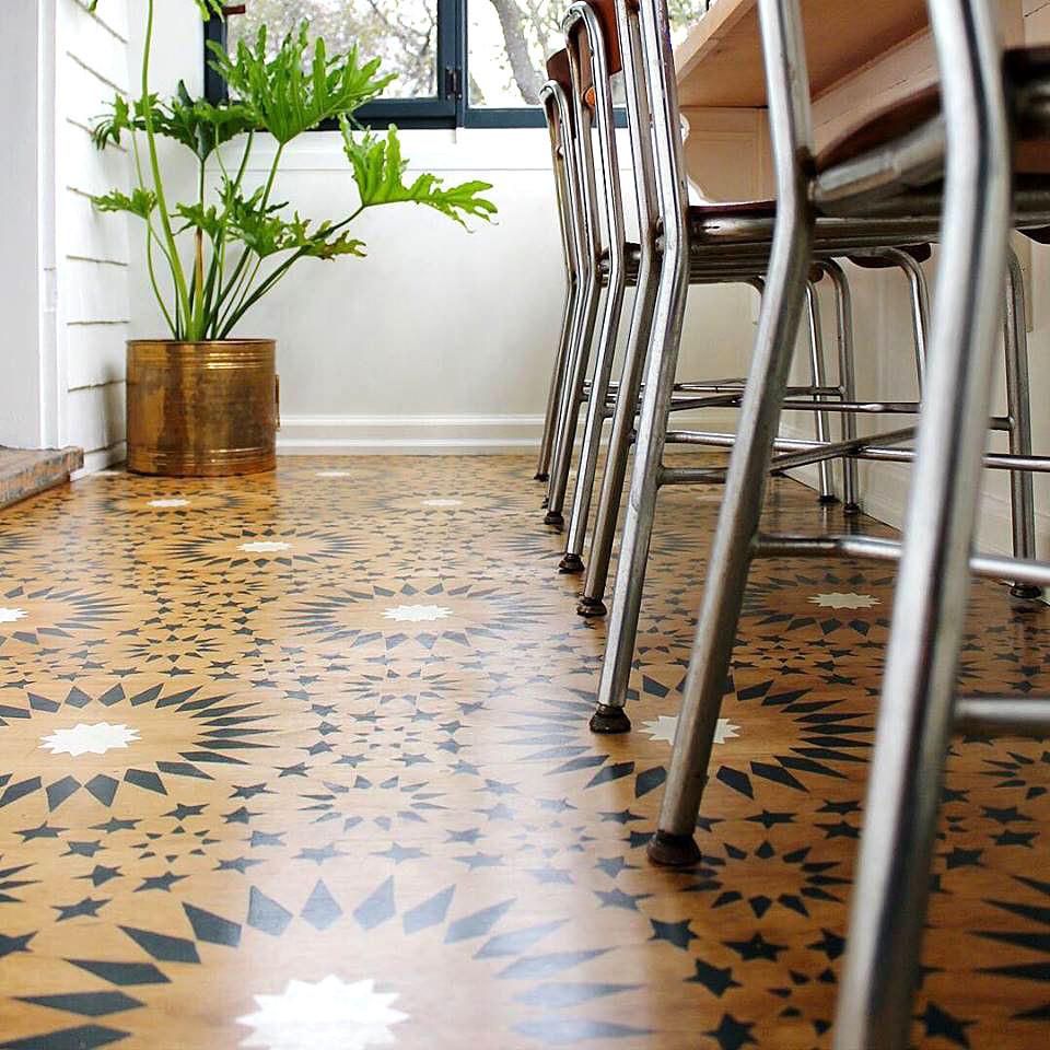 stencilled floor