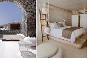 TRAVEL: KENSHO hotel , Mykonos room with light colour palette