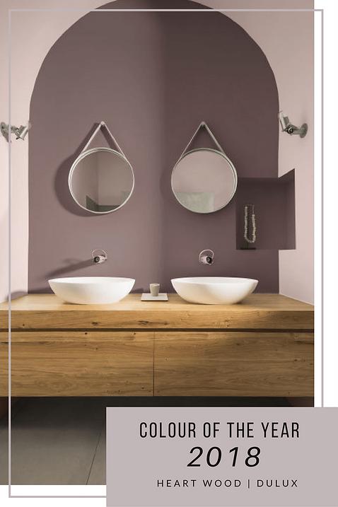 Dulux Colour of the Year 2017 Heart Wood bathroom ideas