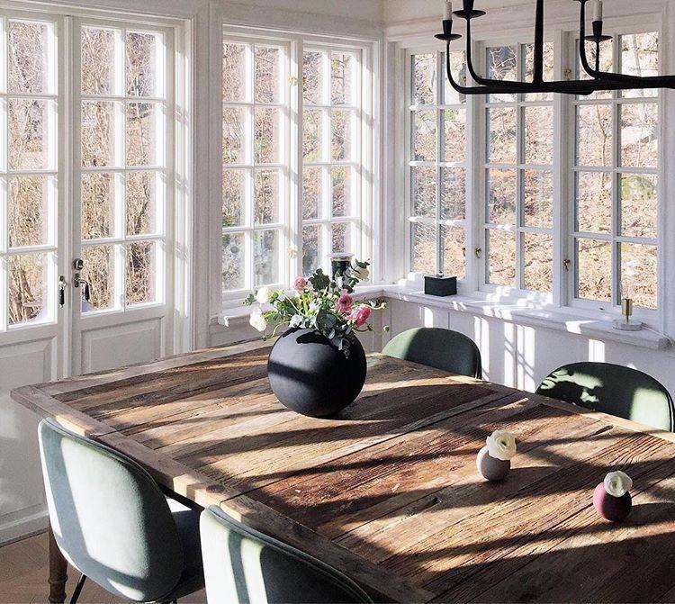 Scandi style home dining room Beetle GamFratesi
