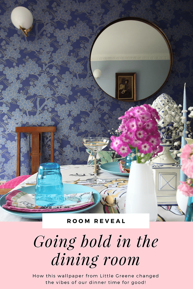 how i used bold wallpaper to elevate my home decor | seasons in