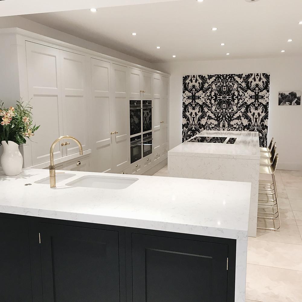 black and white kitchen decor granite worktops