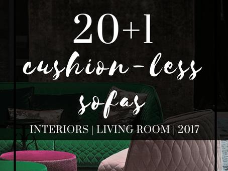 20+1 cushion-less sofas