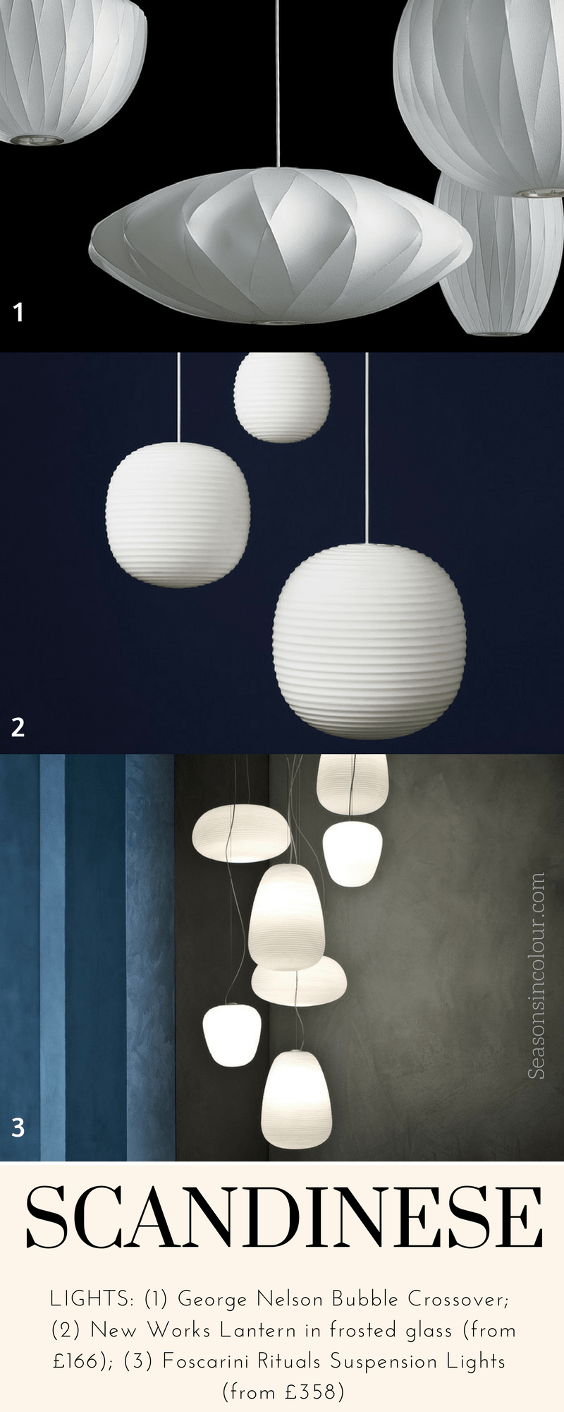 japandi scandinese lighting fixtures