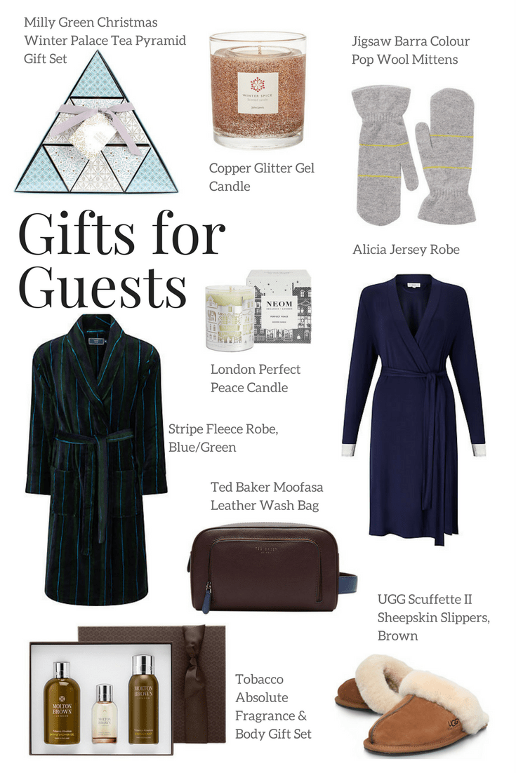 Thoughtful gifts for your guests this Christmas. Leave these in their room to make them feel extra special and welcome