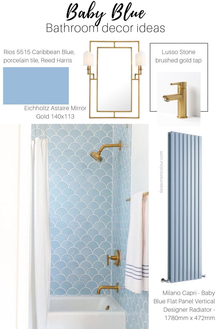 radiators in blue bathroom decor ideas