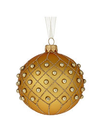 Beaded Trellis Bauble
