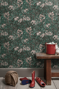 Malin by Sandberg wallpaper floral - 15 best floral wallpapers for a moody look - how to decorate your interiors with moody floral wallpaper