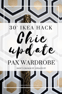ikea pax wardrobe hack with wallpaper