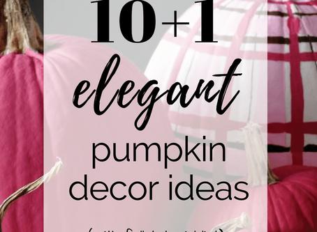 10+1 ELEGANT decor ideas with pumpkins