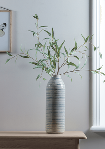 Slim Leaf Eucalyptus in a dotted tall vase