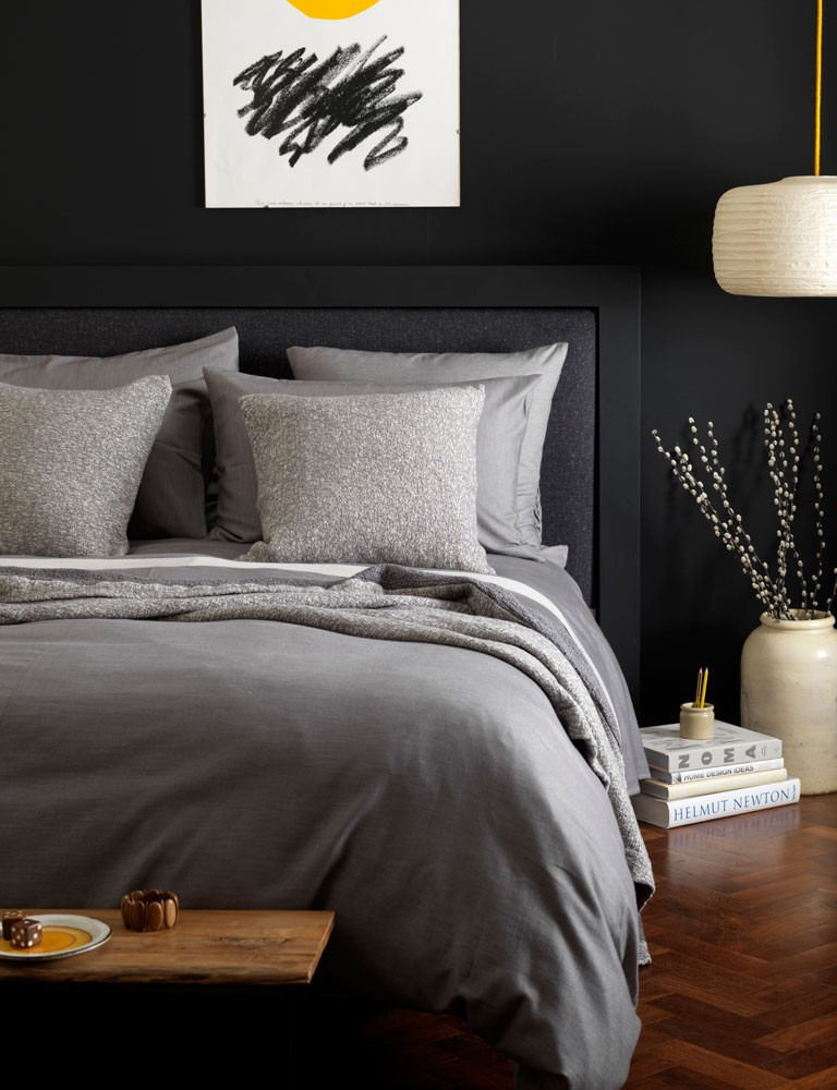 Bedroom: new linen collections for SS17 Secret linen relaxed Grey