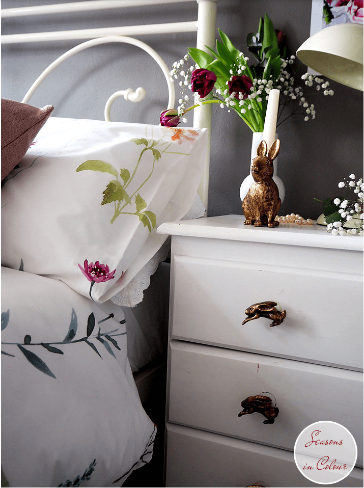 Bedroom: new linen collections for SS17 John Lewis Leckford brass rabit candle holder Moles Breath wall