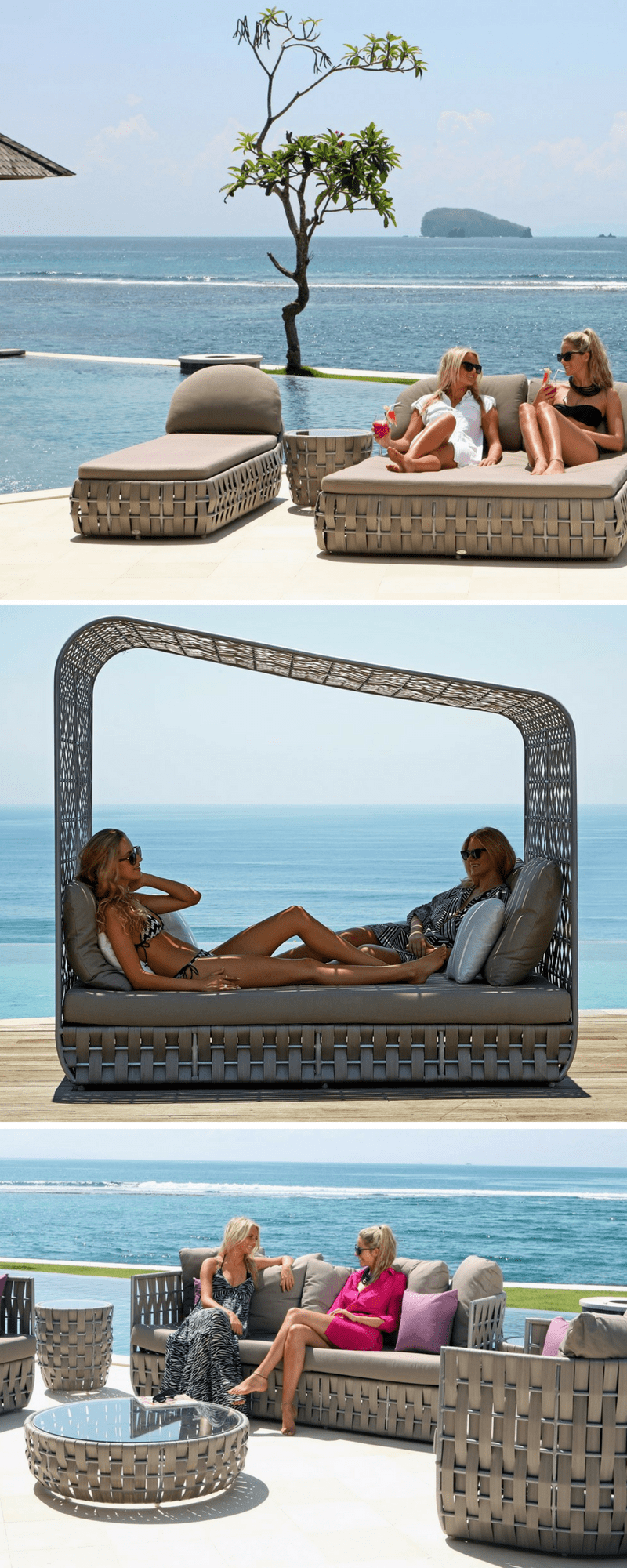 Skyline luxury outdoors furniture, synthetic rattan for boutique hotels and resorts