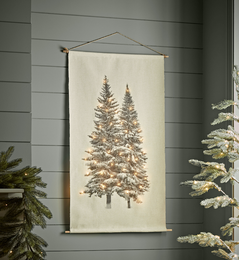 15 space saving Christmas products that are PERFECT for renters - christmas canvas decor