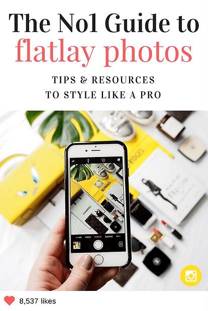 Best tips for flatlay photos