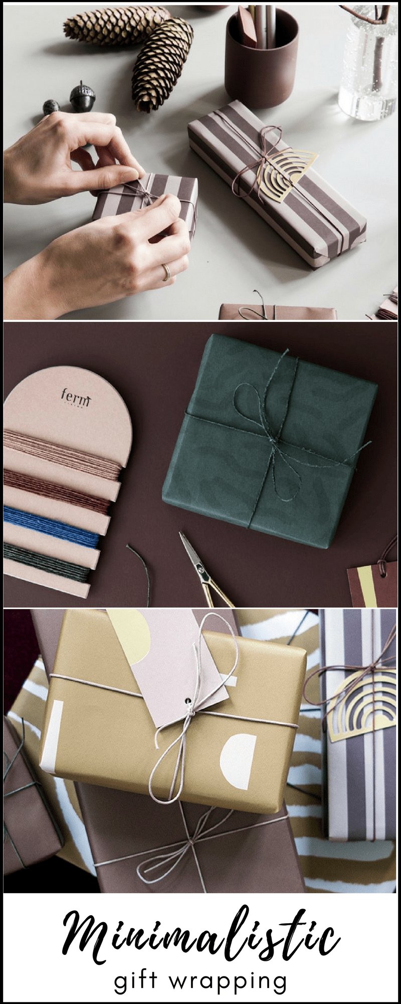 minimalistic gift wrapping ideas from Ferm Living