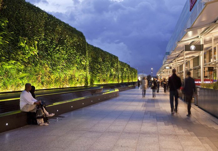 Living walls in Westfield Shepherd's Bush