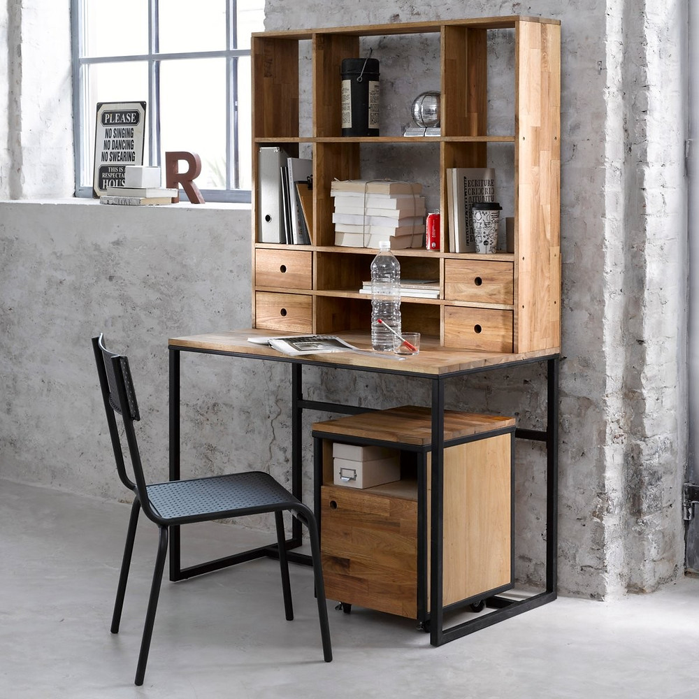 industrial style work station for teenager rooms