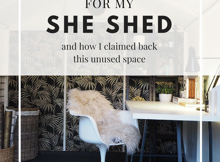 SHE-SHED Glam Makeover