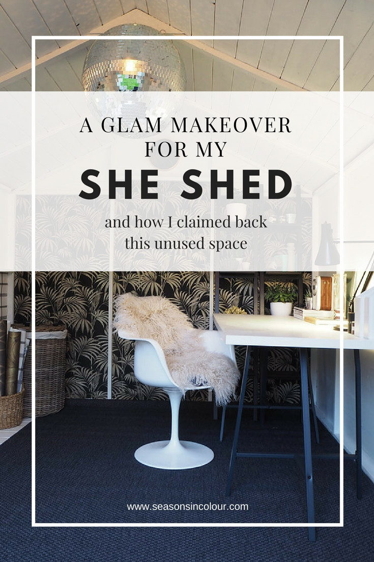 Garden makeover shed she-shed