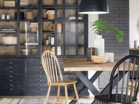 Industrial style furniture and decor