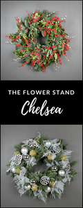 Christmas Wreath is silver from The Flower stand Chelsea