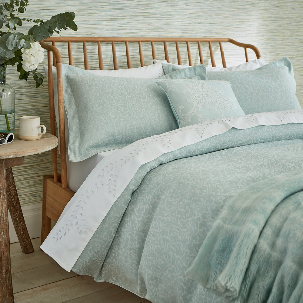Sanderson Manderley Bedding in Mint