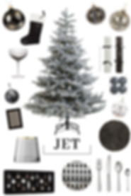 Christmas decor Jet Black
