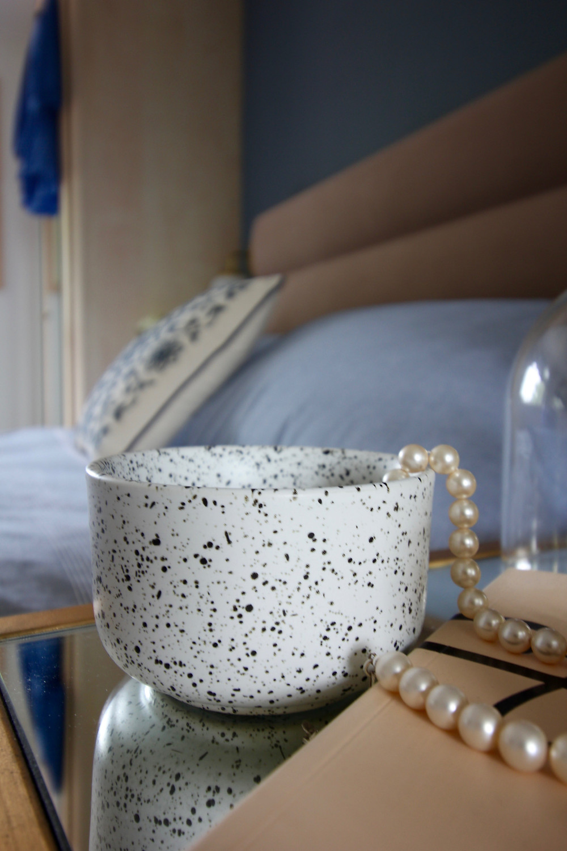 Dulux Denim Drift Bedroom splatter bowl