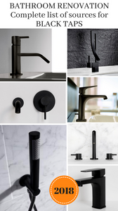 bathroom renovation ideas with the ultimate list of black tap sources