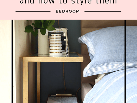 10 Bedside tables and how to style them