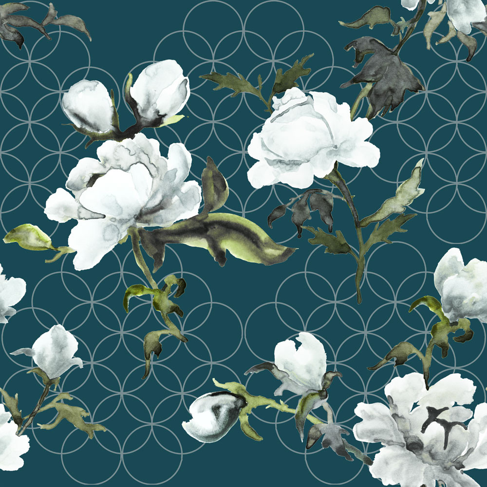 Gypsy by Petronella Hall floral wallpaper
