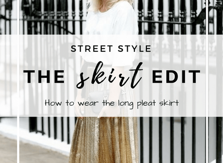 How to wear a long pleat skirt