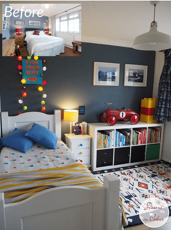 Kids Room Makeover In Blue And Red