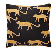 Black Embroidered Cushion