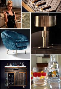 Midcentury decor moodboard Ginspiration