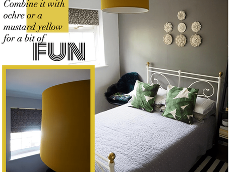 How to style a bedroom that is painted grey