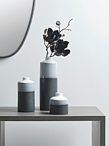 Trio of monochrome vases for a scandi look